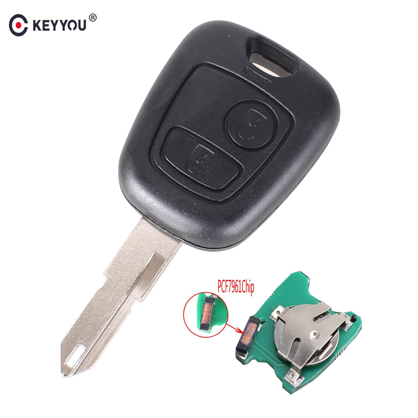 Кнопки KEYYOU 2 NE73 лезвие Брелок дистанционного контроллера для Пежо 206 433 МГц с чип Приемоответчика PCF7961