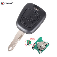 KEYYOU 2 Buttons NE73 Blade Remote Key Fob Controller For PEUGEOT 206 433MHZ With PCF7961 Transponder
