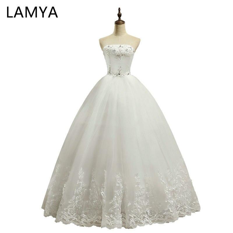 Robe de mariée en dentelle pas cher Laciness Bow robes de mariée taille personnalisée robes de mariée avec grand arc coco. vinner robe de mariée modeste