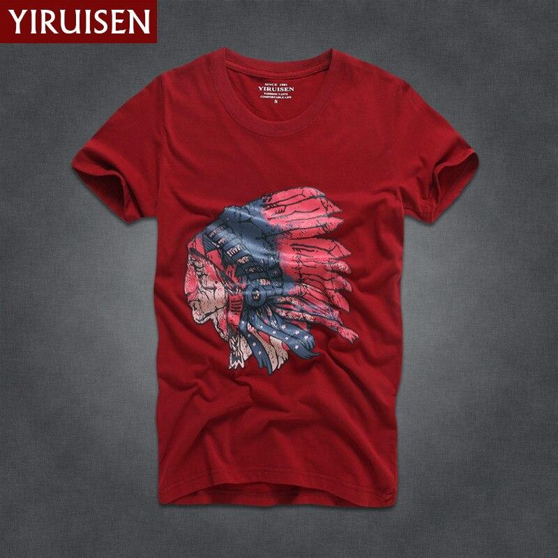 Мужские футболки, модные, YiRuiSen, брендовая мужская футболка с коротким рукавом, мужская повседневная футболка из хлопка, топы, Camisetas Hombre Camisa - Цвет: 6832