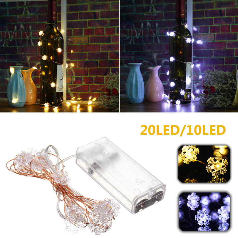 Mising 1.2M 10 LEDs Copper Wire Snowflake Flexible String Light Battery Powered for Party Christmas Wedding Outdoor Decoration