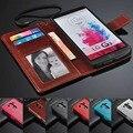 Para lg g3 case con titular de la tarjeta cash photoframe de lujo retro cartera de cuero case para la cubierta g3 g3 mini cajas del teléfono g5 pata de cabra