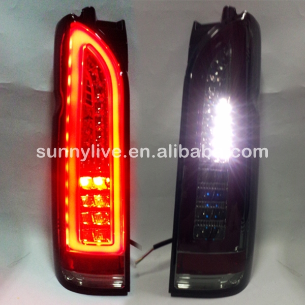For TOYOTA Hiace LED Tail Lamp Smoke Black Color 2014 2015 year ...