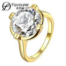 Anillo de oro amarillo para novia Blanco/oro rosa color anillos para mujeres boda fiesta joyería Vintage venta al por mayor
