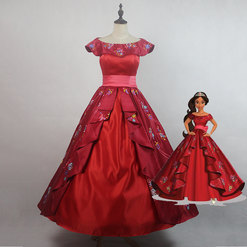100%real luxury princess elena cosplay embroidery ball gown medieval dress Renaissance gown cos. cartoon dress/customs size make