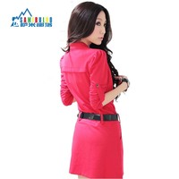 2013 New Fashion Women Dress Autumn Winter Long Sleeve Office Dresses For Ladies With Belt Plus