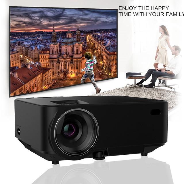 Original T22 Mini Portátil LED Proyector 3D Proyector Multimedia de Cine En Casa HDMI Proyector Full HD de Vídeo VGA AV puerto