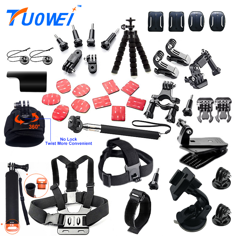 TuoWei for Gopro Accessories Set Multifunction Floaty Bobber for Gopro5 3 Kit Mount  for Sjcam Sj4000 for Xiaomi Yi 4K Camera A2