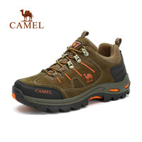 Camel Men S Outdoor Professional Lace Up Low Top Hiking Shoes With Arch Support