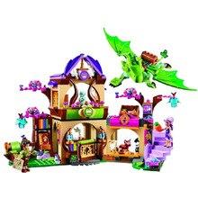 694pcs Elves Fairy Secret Place Parenting Fit Girl Market Bela Compatible With Legoingly Friends Building Block Toys Birthday