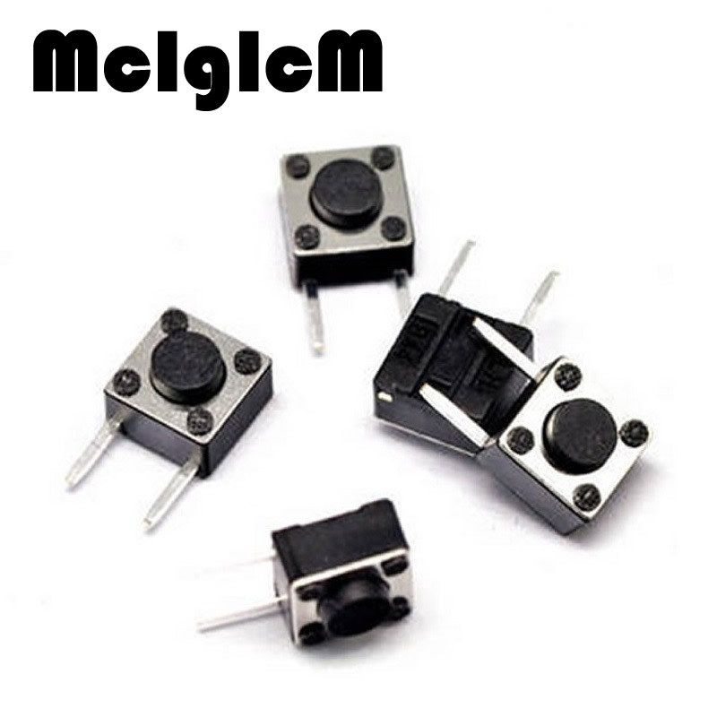 50pcs/lot 6*6*4.3mm micro switch DIP 2 PIN ON/OFF Touch Button Touch Switch 6*6*4.3 keys button DIP 2pin Free shipping