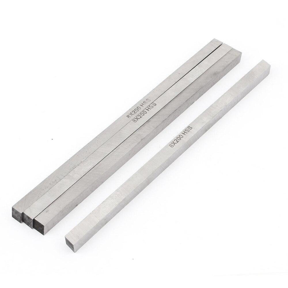 4pcs High Speed Steel CNC Lathe HSS Square Cutting Tool Bits Bar 0.3x0.3x8 8x8mm length 500mm 6061 rectangular hss steel bar lathe tool cnc milling cutter