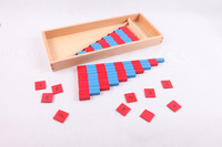 Montessori Wooden Counting Math Toys Small Numerical Rods Early Learning Educational Toys Gift for 3 Year Old Kids