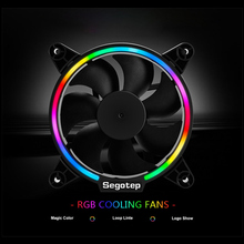 120mm RGB LED Light CPU Cooler Cooling Fan Radiator 4 Pin Silent Computer Case Cooling Heatsink For Desktop PC Gaming Case