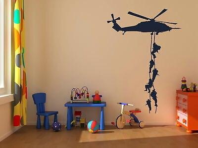 Frete Grátis-Marines Militar Vinly adesivo de Parede decoração Adesivo Helicóptero Adesivo Decalque Para Quarto Dos Meninos Meninos Exército Decor