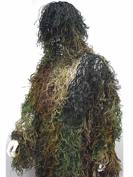 Top Quality Desert Bionic Ghillie Suits Camouflage Grass Hunting Recon Yowie Paintball Military Clothing Free Shipping