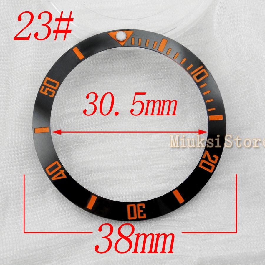 Marcador para Homens Relógios de Marcação Milímetros Brand Novidades Alta Qualidade Moldura Azul Amarelo Escala Numeral – Perder Grandes 38