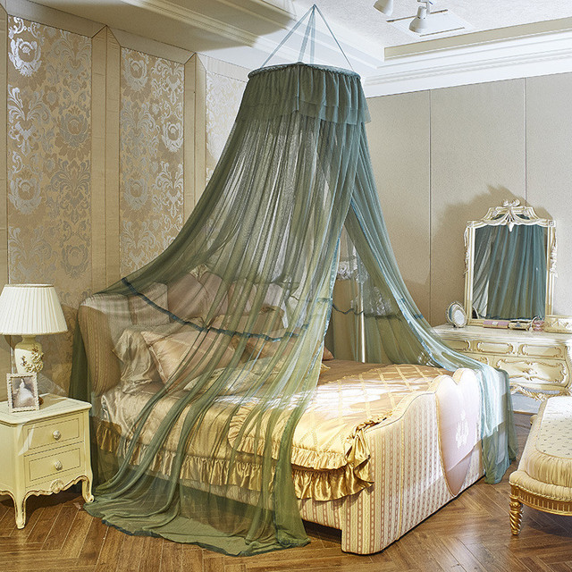 Nordic Style Large Size Mosquito Nets Pure Color Lace Children's Princess Bedding Anti-mosquito Girl Room Decoration Canopy New