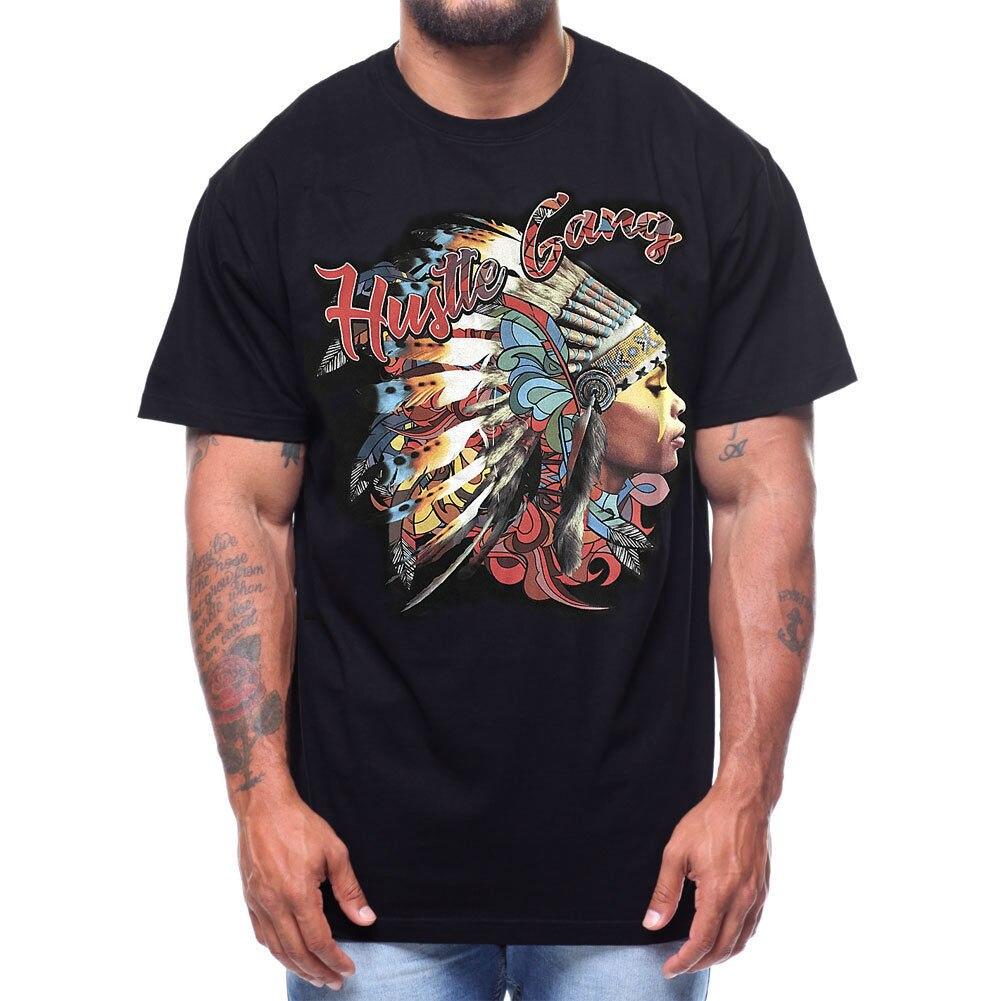 Hustle Gang Mens Acid Chief T Shirt Black Skate Streetwear Clothing Apparel Casual Fitness Men T Shirts For Male/Boy T shirt