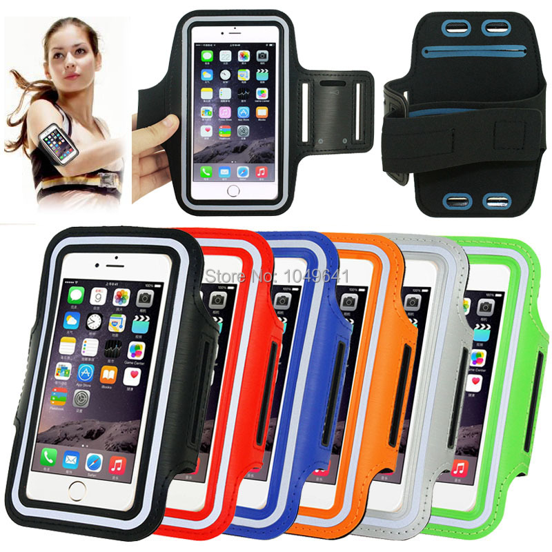 KIP6-1323_6_Sport Armband Case with Earphone Hole & Key Pocket for Sport Armband Case with Earphone Hole & Key Pocket for iPhone 6 Plus Senseit E500 Prestigio Muze D3 Xiaomi Redmi Note 3 Coolpad Modena