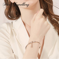 Her Jewellery bracelets for women Punk Gold Chain Round Crystal Fringe Geometry Open Bracelet Set Ladies Jewelry 2019 new 178