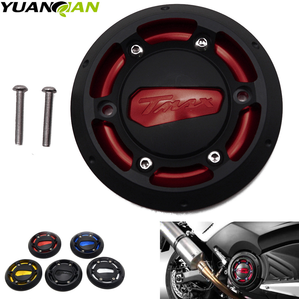 CNC Engine Protective Cover Engine Stator Guard For Yamaha TMAX 530 2012 2015 TMAX 500 2004 2011 Moto TMAX logo in Covers Ornamental Mouldings from Automobiles Motorcycles