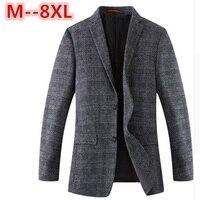 10XL 8XL 6XL 5XL 2017 New Spring Autumn thin Casual Men Blazer Cotton Slim England Suit Blaser Masculino Male Jacket Blazer Men