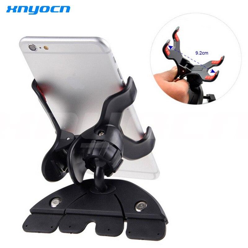 אוניברסלי CD חריץ רכב טלפון סלולרי בעל הר עבור iPhone 5 6 Plus עבור Samsung Galaxy GPS טלפון נייד תושבת עומד
