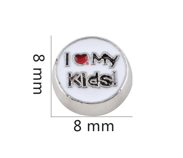 Free Shipping, 20pcs Enamel I LOVE MY Kids Floating Charms Fit For Glass Living Memory Lockets, Gifts
