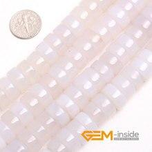 8X14 MM rondelle forma blanco ágata cuentas de piedras naturales strand perlas sueltas DIY para la joyería que hace 15 pulgadas al por mayor!