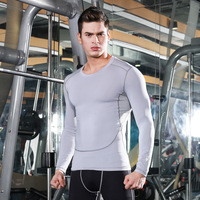 Men 's autumn and winter tight training gym sports fitness running long-sleeved shirt breathable quick-drying clothes T-shirt