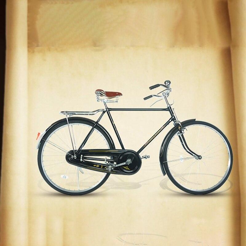 Rétro Bicicleta voiture littéraire et Vintage de haute qualité en acier au carbone 28 pouces siège avec siège arrière vélo adulte