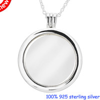 Pendant necklaces & pendants Large Floating Locket Necklace 925 STERLING SILVER JEWELRY choker Valentine gift