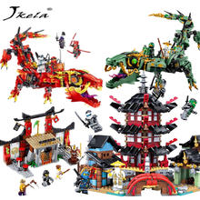 [hot] LegoINGly Ninjago Temple Ninjutsu Duel Flying mecha dragon DIY Building Block Sets Compatible With legoing ninjagoes(China)