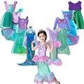 Mädchen Kleine Meerjungfrau Ariel Prinzessin Kleid Cosplay Kostüme Für Kinder Baby Mädchen Meerjungfrau Kleid Up Sets Kinder Halloween Kleidung
