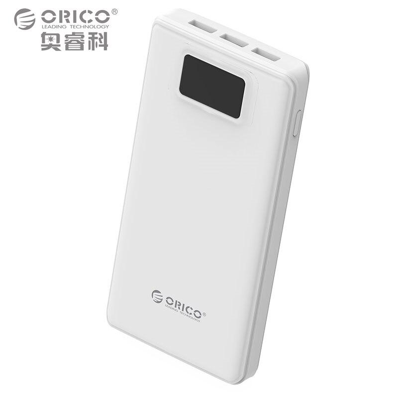 imágenes para ORICO 20000 mAh Banco de Alimentación Batería Externa de Reserva Portable Móvil Del Cargador Del Banco para Android iPhones con Linterna LED-Blanco