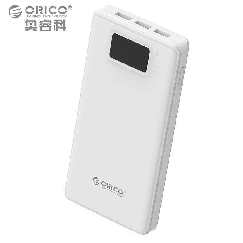 bilder für ORICO 20000 mAh Energienbank Externe Batterie Bewegliche Backup-banküber Ladegerät für Android iPhones mit Led-taschenlampe-Weiß