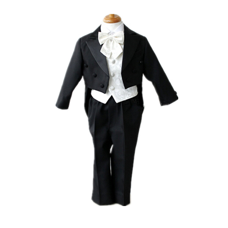BBWOWLIN Formal Black Baby Boys Suits for Weddings Christmas Birthday Party 6T Swallowtail 7006
