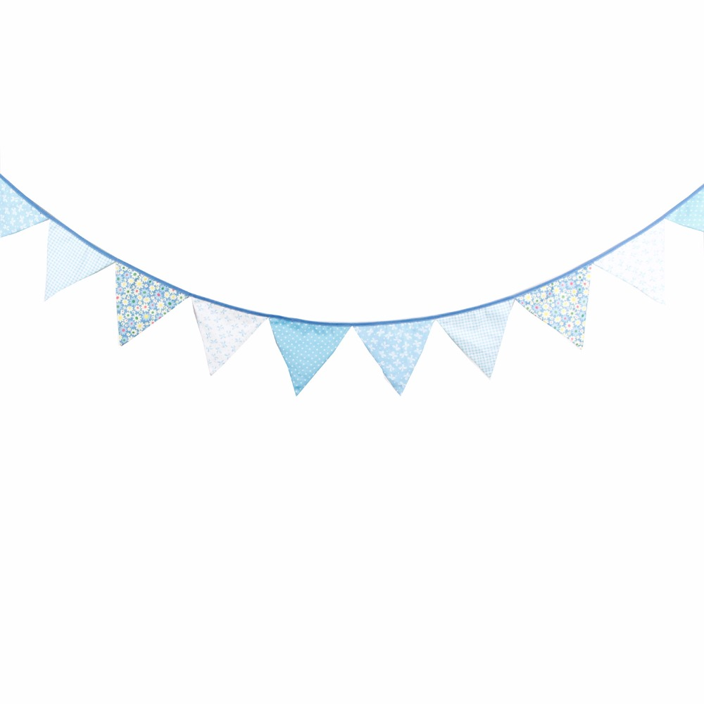 High Quality 2.7M Blue Cotton Bunting Colorful Garland ...