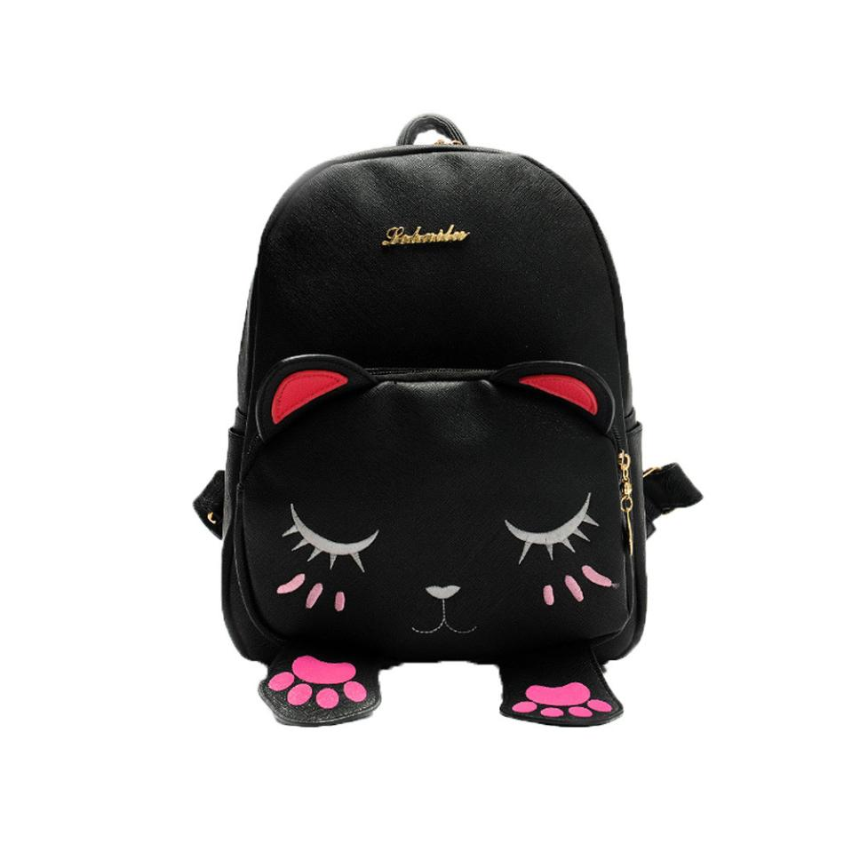 Lady Cat Pattern Student Girl Backpack School Backpack Fun Shoulder Bag Designer Backpack High Quality 2018#xqx