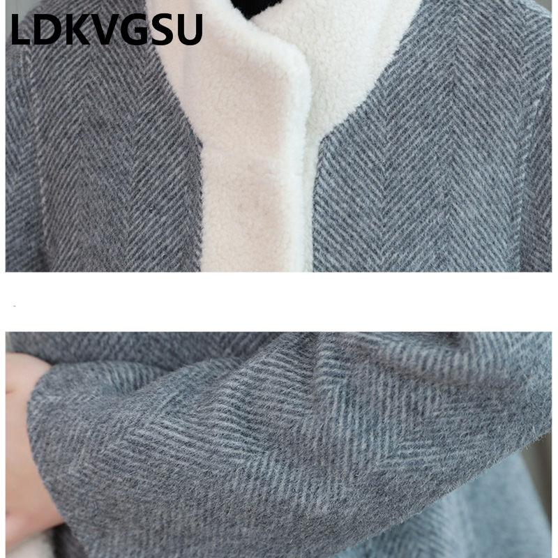 Femmes Des Survêtement Mode Lâche Épaississent Long Automne Hiver Tweed Laine De Veste hongse qianzi Is1325 Nouvelle Col Manteau Rue La 2018 Montant Heise wqA8Y0OYx