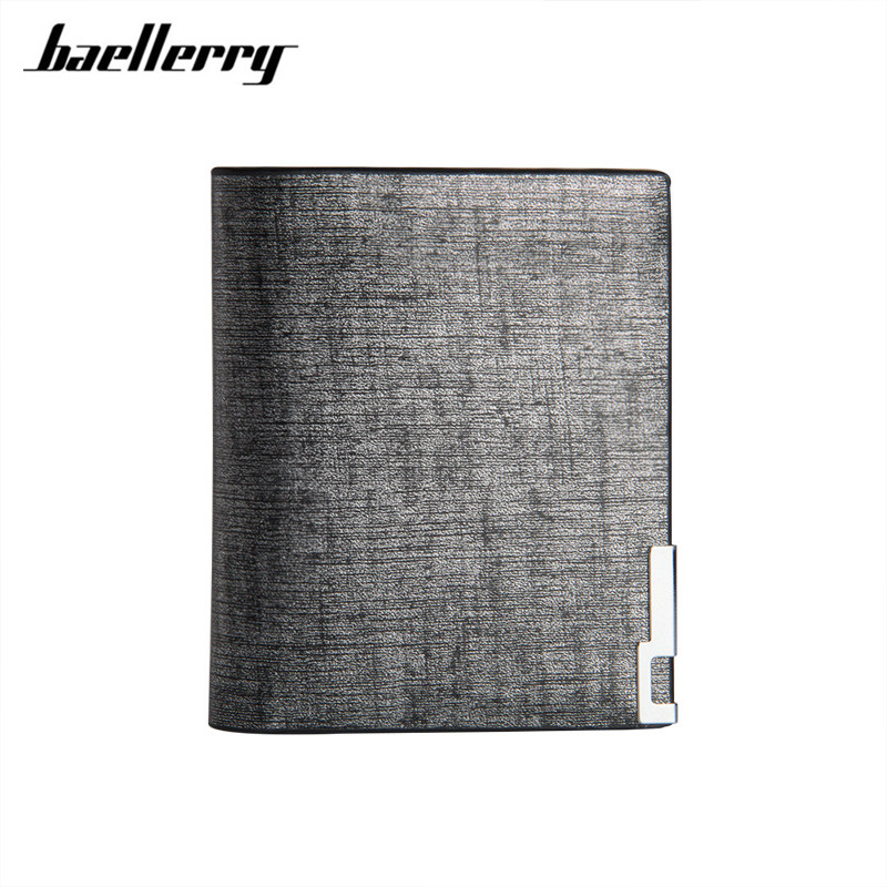 Baellerry 2017 fashion thin Solid men wallets and purse money short slim gold simple leather male wallet Bifold with Card holder 2017 men ultra thin short bifold business leather wallet money card holder bag purse traveling bifold business leather june0627