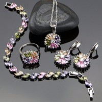 New-Style-925-Sterling-Silver-Jewelry-Set-For-Women-Flower-With-Multicolor-Created-Topaz-Earrings-Pendant.jpg_200x200