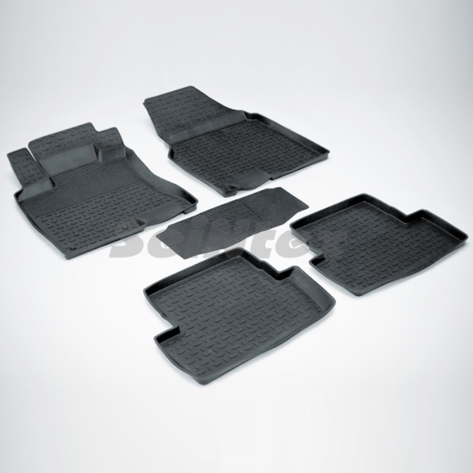 цена на Rubber floor mats for Nissan Qashqai J10 (2007-2014) Seintex 01277