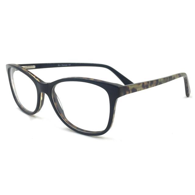 Laura de Hadas de La Moda de Nueva Diseño Acetato Marco de Los Vidrios Grandes Del Marco Hombres Mujeres Gafas de Los Hombres/de Las Mujeres Gafas