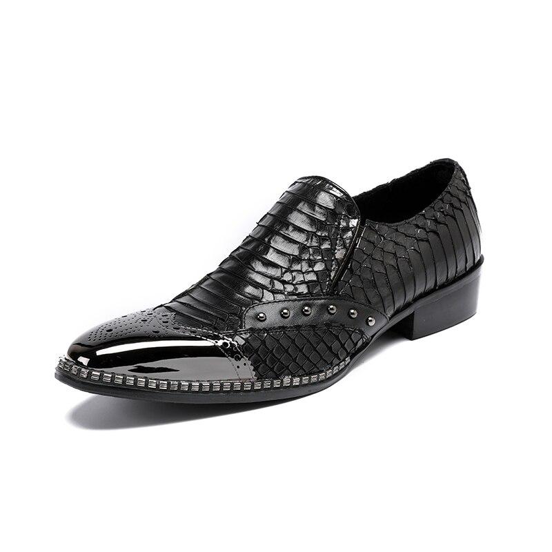 Spitz Freizeitschuhe Herren Luxuriöse Schwarz Okhotcn Schuhe Männer Handmade Leder Müßiggänger Luxus Atmungsaktivem qWnZSna