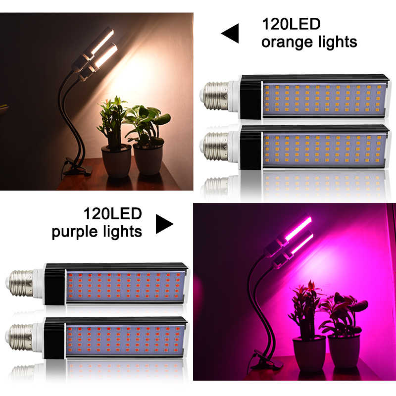50W 120 LED Grow Lamp with 3/9/12H Timer 5 Dimmable Levels 3 Modes LED Grow Light for Indoor Plant Adjustable Growing Lights