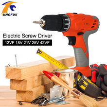 Electric Cordless Screwdriver 18v Drill lithium drill Mini rotary tool Power Tools