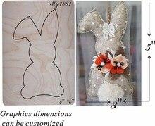 Plakboek Cut Sky Bunny Hanger Hout Mallen Gestanst Accessoires Houten Sterven Regola Acciaio Sterven Misura (Mijn)
