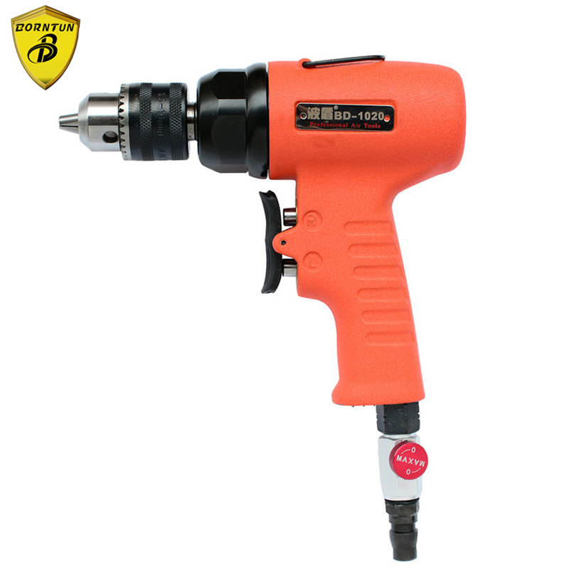 Borntun 1.5-10mm Low Speed Pneumatic Air Drill Bore Gun Pneumatic Drills Bores Tool Air Boring Drilling Woodworking Metalworking